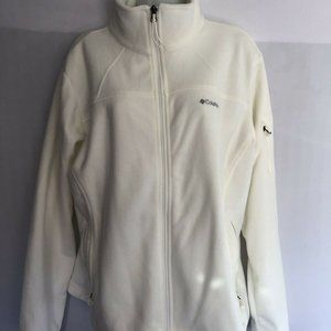 Columbia Sweatshirt Cream Size XLarge Womens Zip